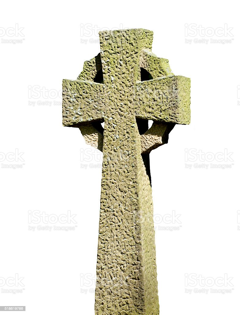 Isolated Celtic Cross stock photo