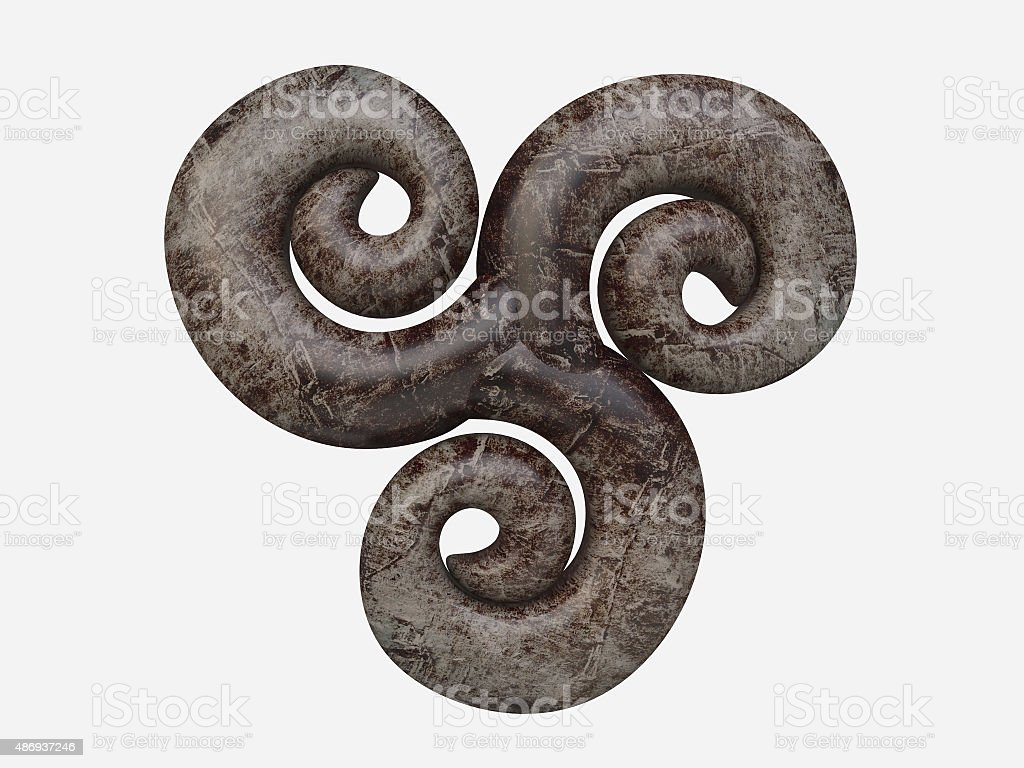 Isolated Celtic Symbol Triskelion stock photo