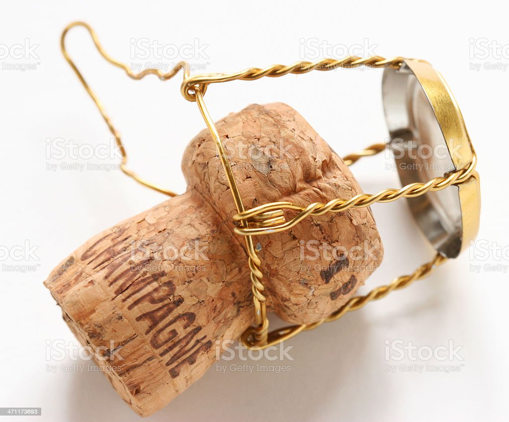 Isolated Champagne Cork royalty-free stock photo
