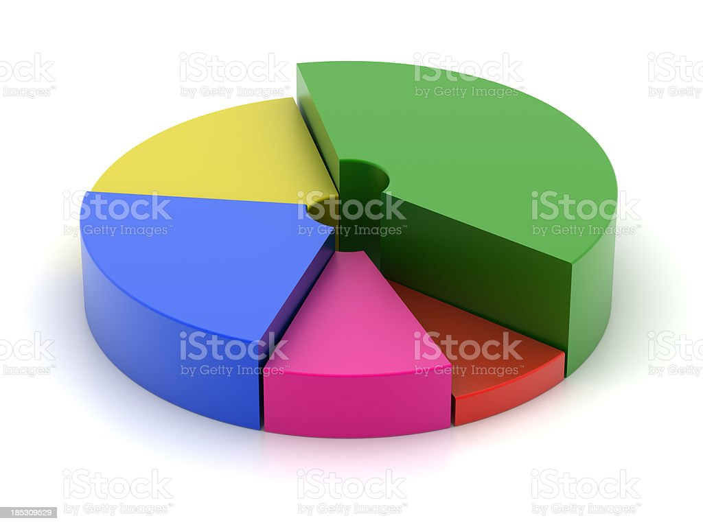 Isolated chart stock photo