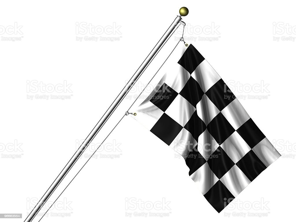 Isolated Chequered Flag royalty-free stock photo