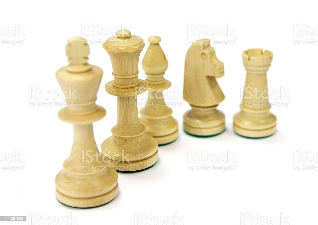 Isolated chess pieces royalty-free stock photo