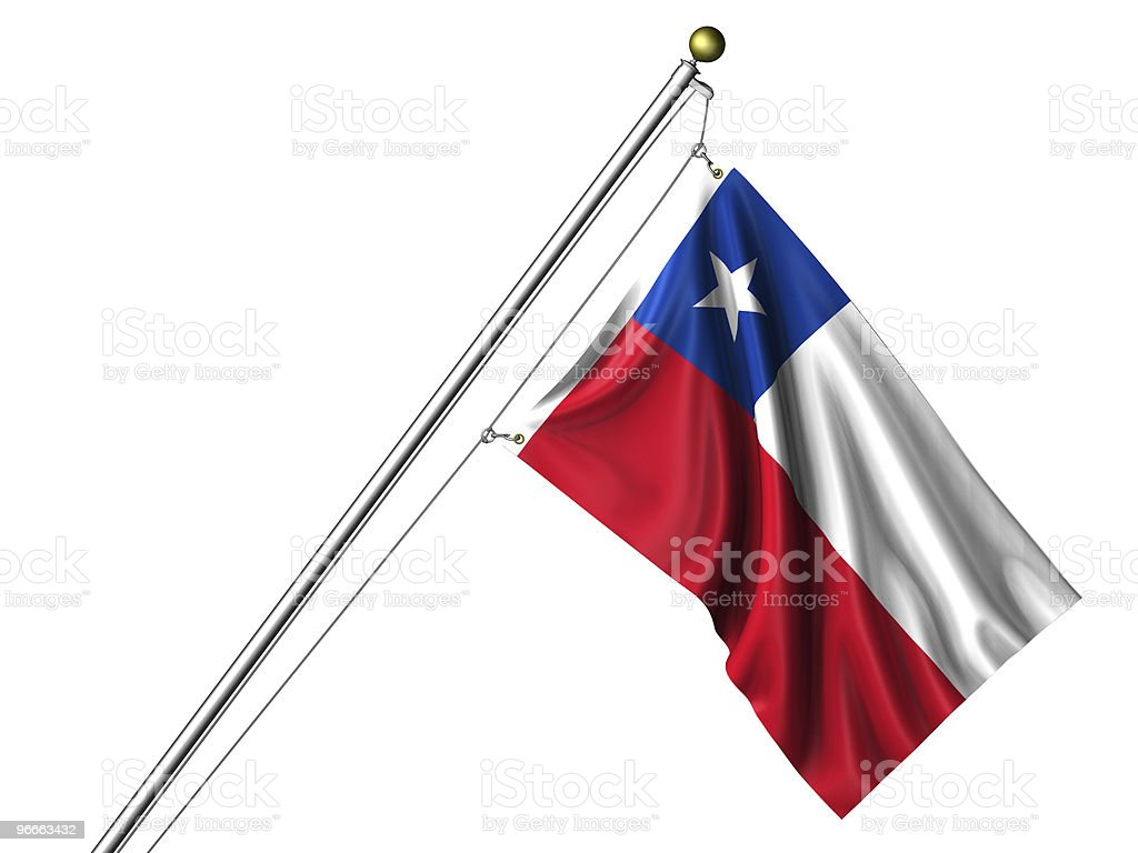 Isolated Chilean Flag royalty-free stock photo