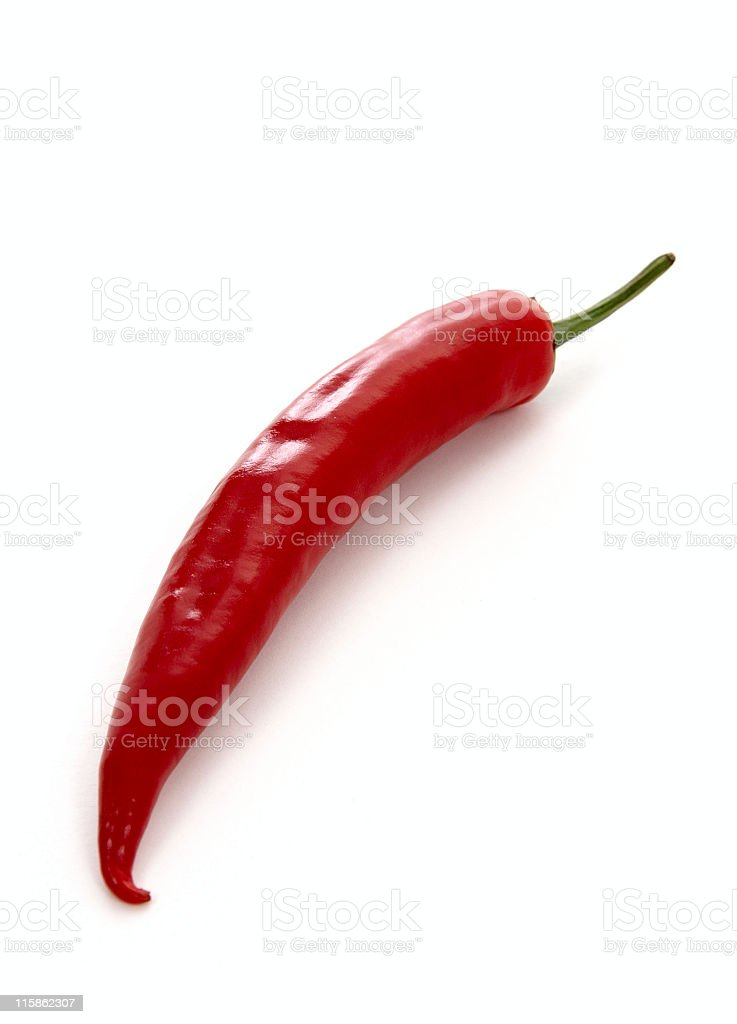 Isolated chili pepper against a white background royalty-free stock photo