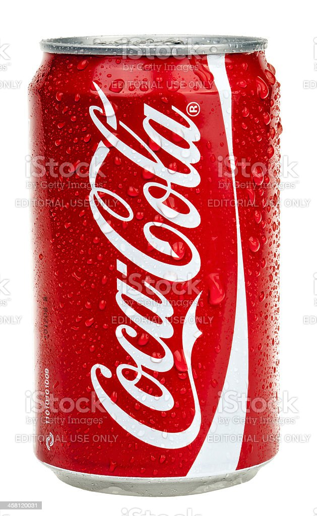 Isolated Chilled Coca Cola royalty-free stock photo