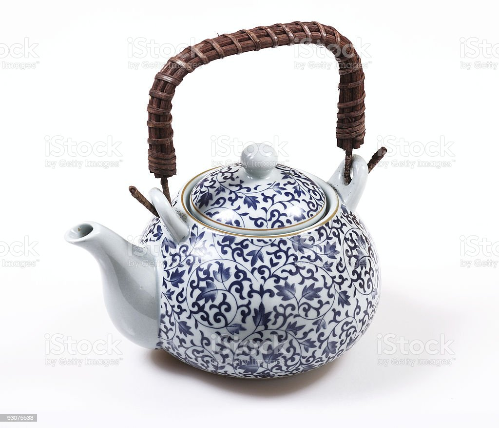 isolated chinese teapot stock photo