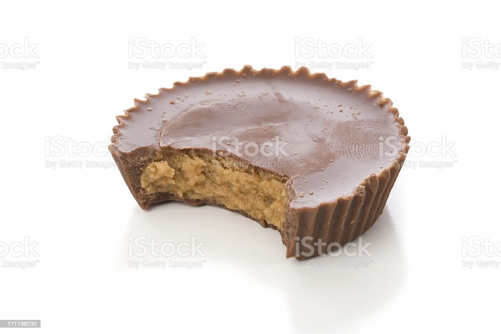Isolated chocolate and peanut butter candy stock photo