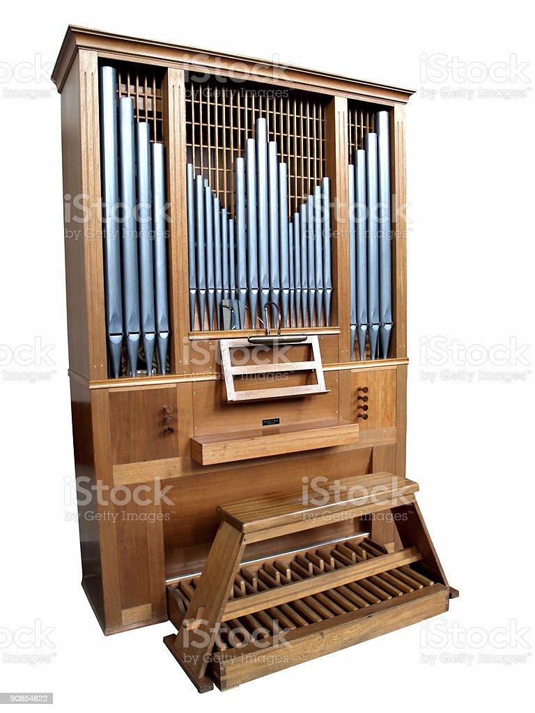 Isolated Church Organ stock photo