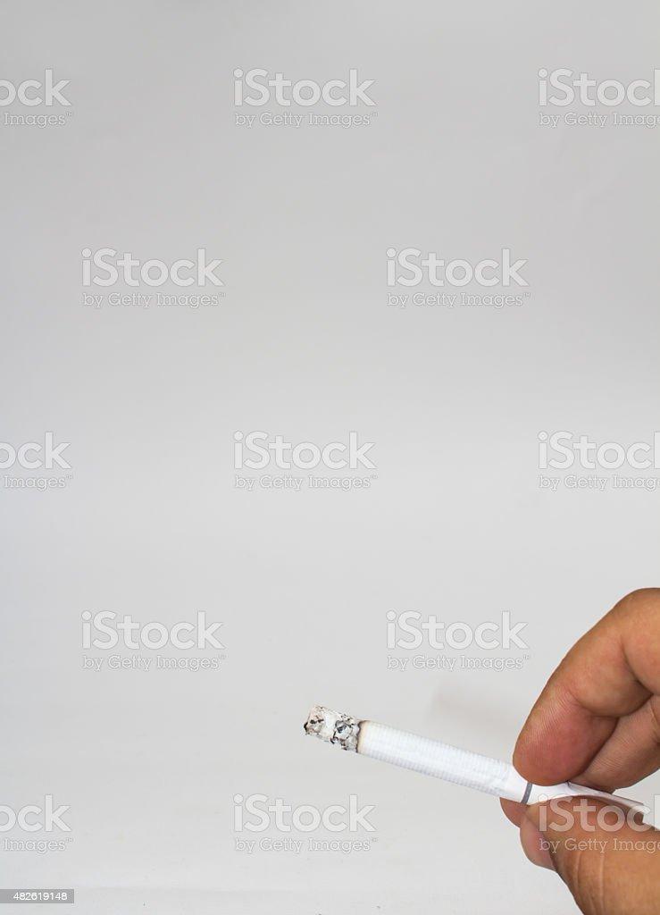 isolated cigarette stock photo