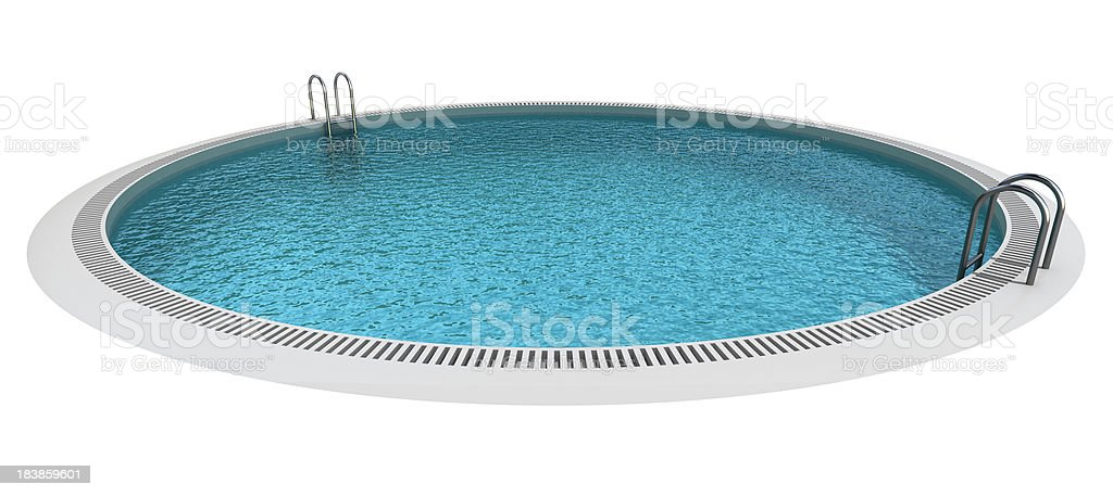 Isolated Circle Pool royalty-free stock photo