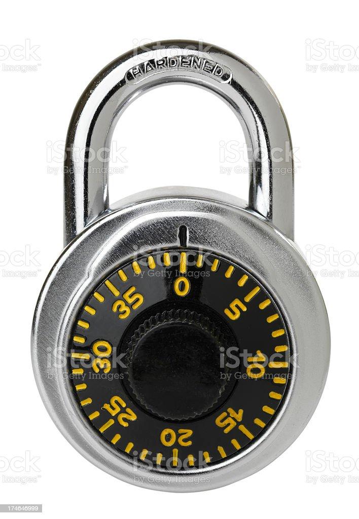 Isolated closed padlock royalty-free stock photo
