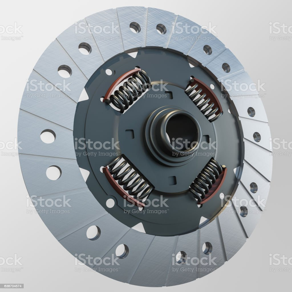 Isolated Closeup Image of Clutch Disc stock photo