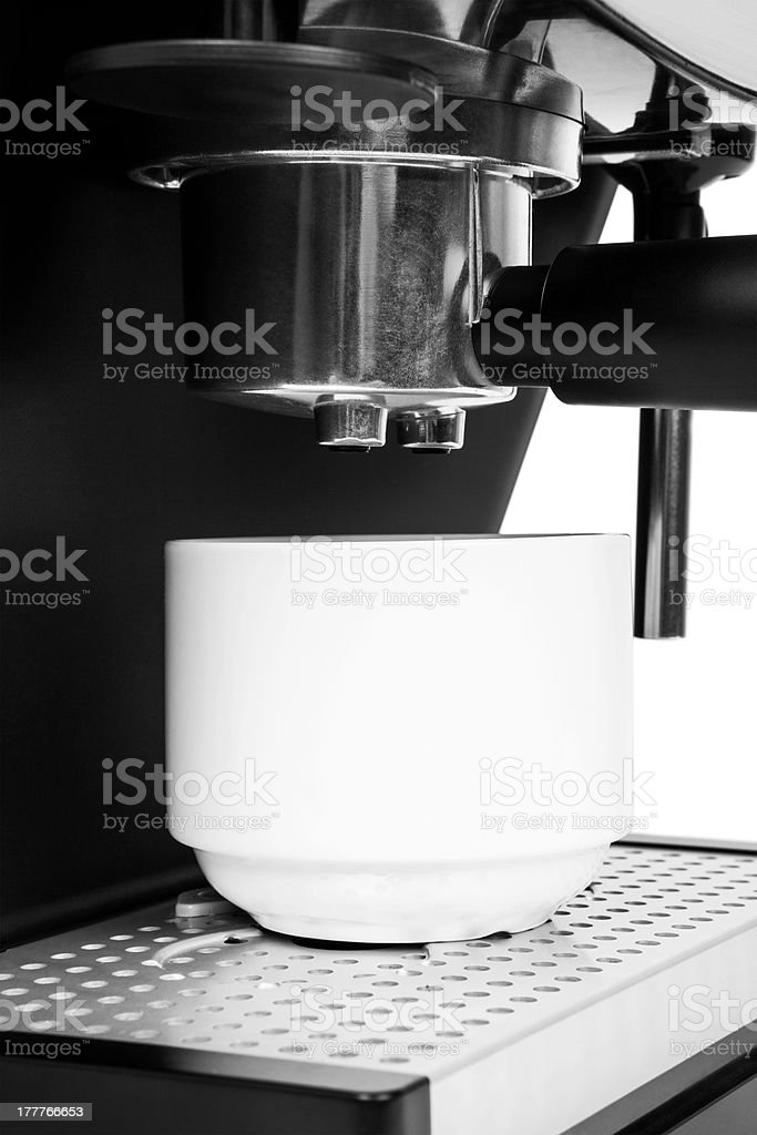 isolated coffe maker on a white background royalty-free stock photo