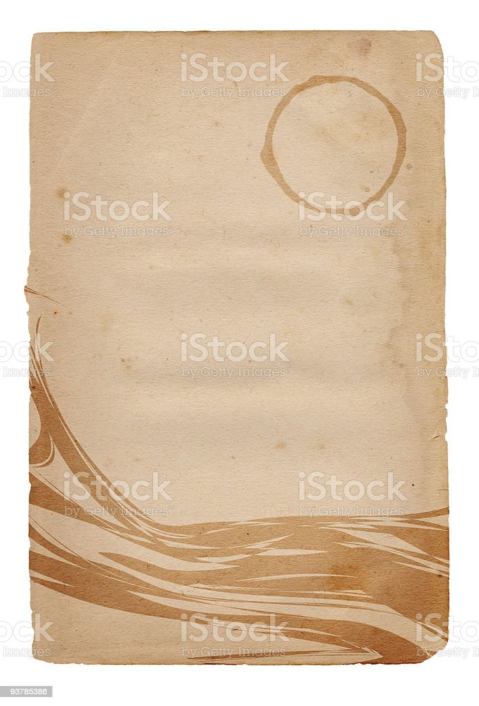 Isolated Coffee Stain Paper XXL royalty-free stock photo