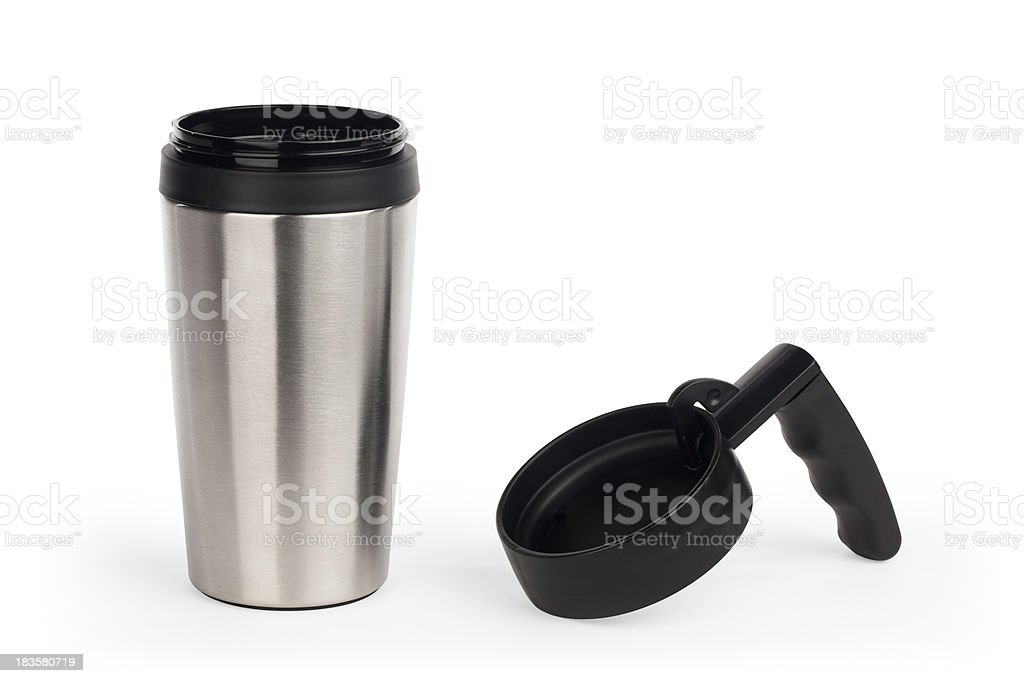 Isolated Coffee Travel Mug stock photo