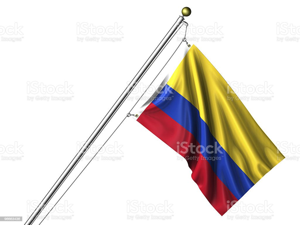 Isolated Colombian Flag stock photo
