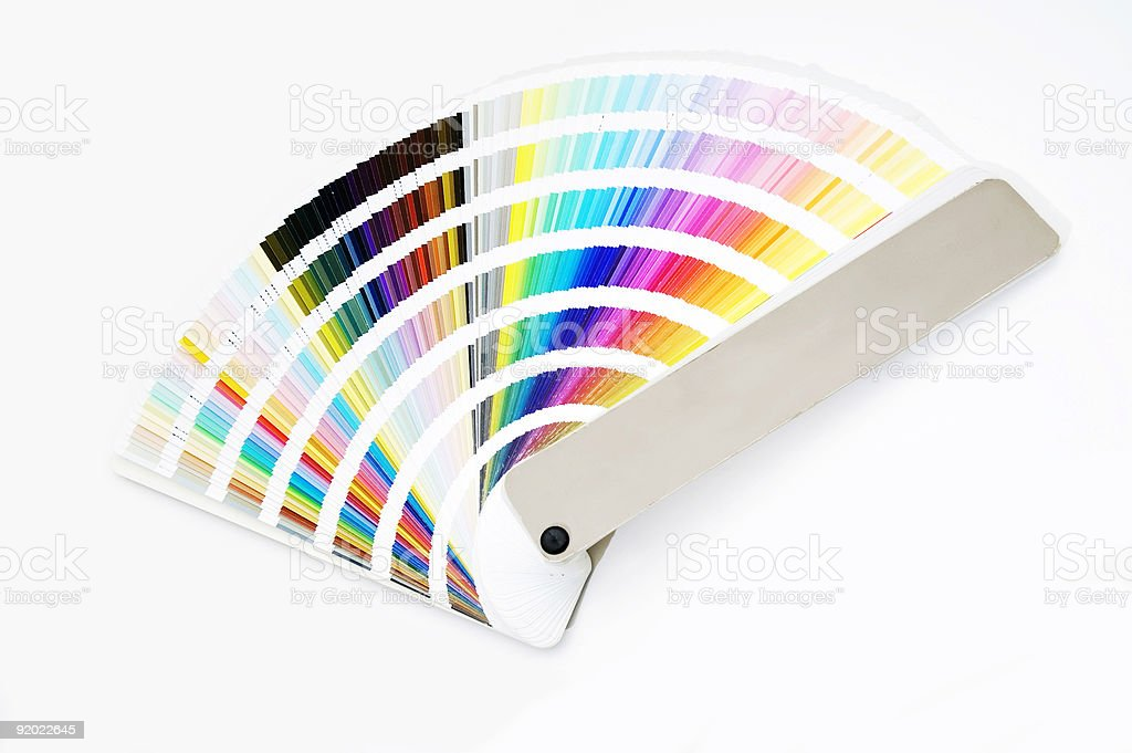 Isolated color guide stock photo