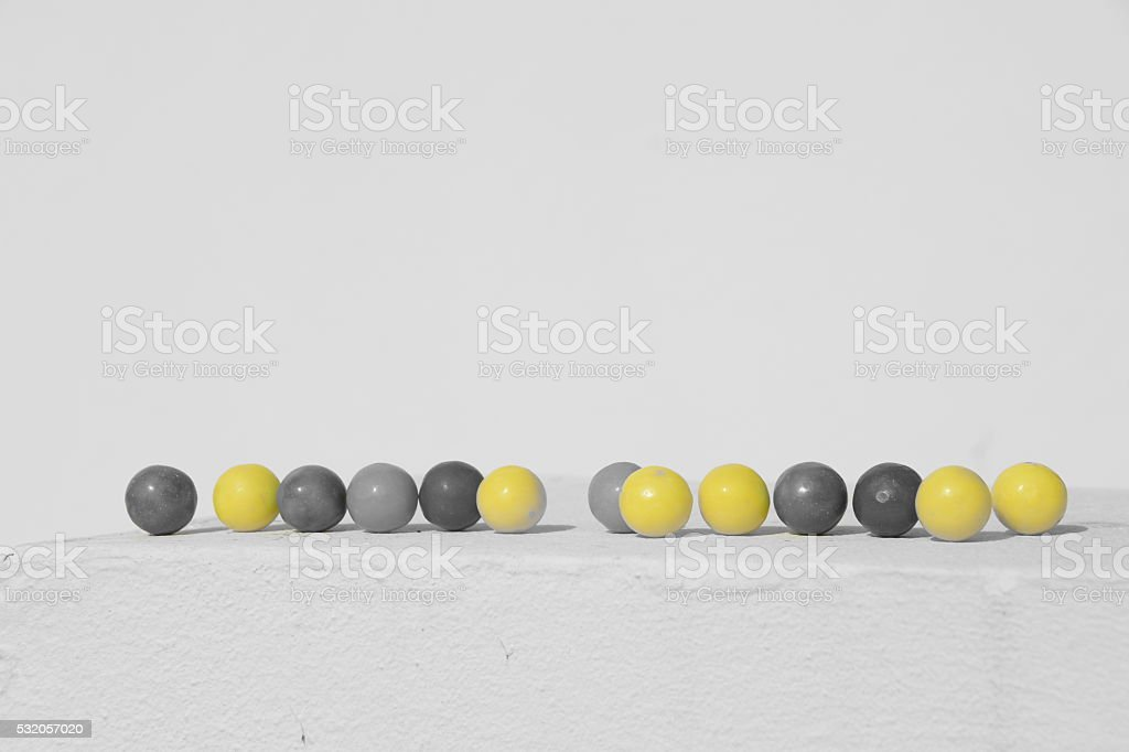 Isolated Color gumballs stock photo