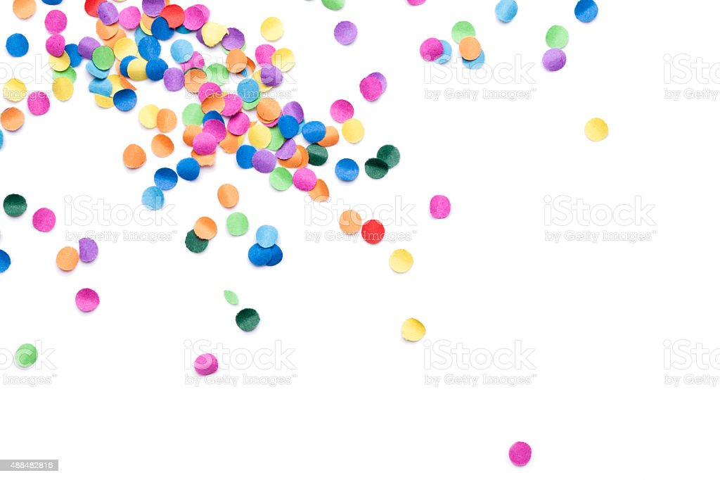 isolated colorful confetti stock photo