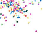 isolated colorful confetti