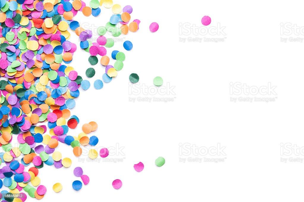 isolated colorful confetti stock photo