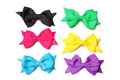 Isolated Colorful Hair Bows
