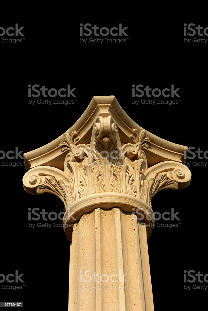 Isolated column head on black royalty-free stock photo