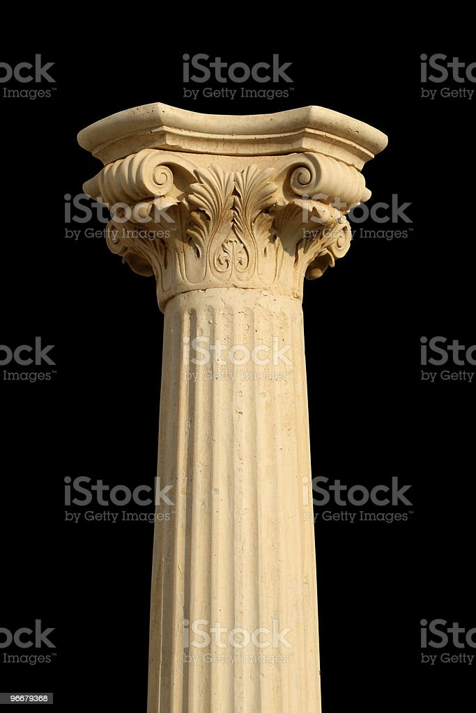 Isolated column on black royalty-free stock photo