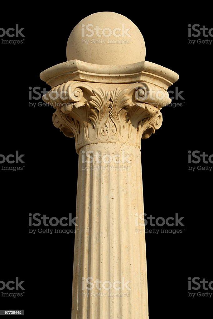 Isolated column on black royalty-free stock photo