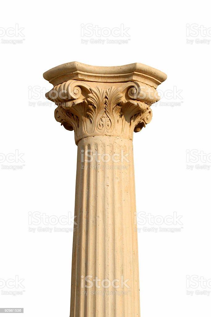 Isolated column on white royalty-free stock photo
