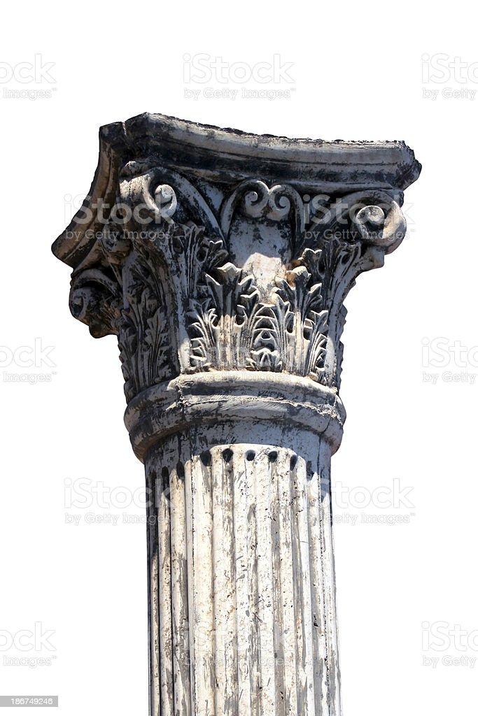 Isolated column stock photo