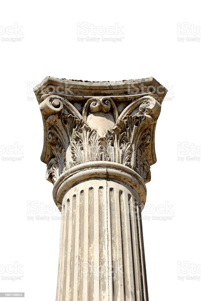 Isolated column royalty-free stock photo