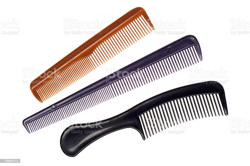 Isolated combs on white royalty-free stock photo