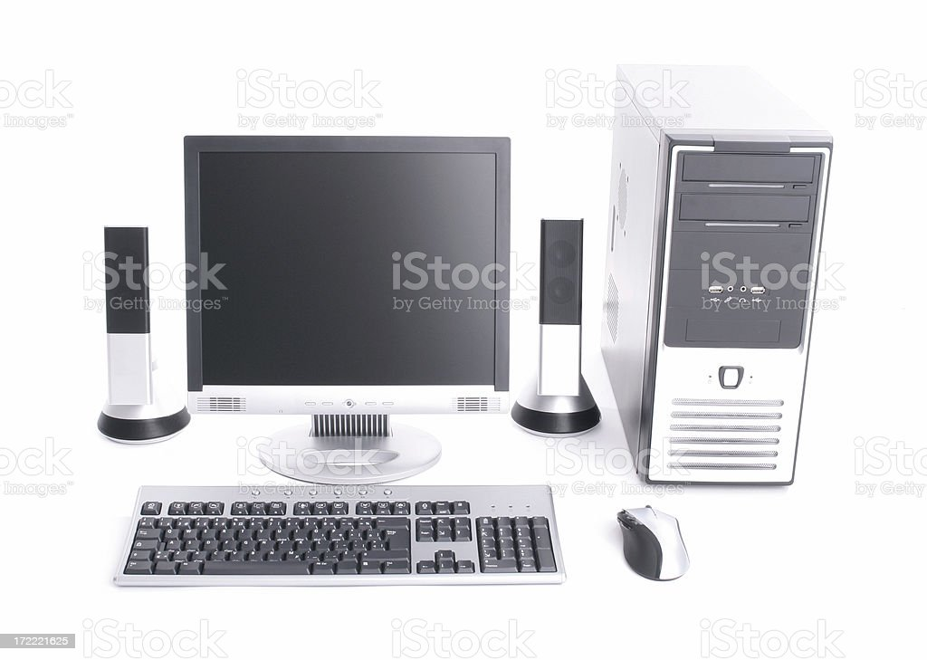 Isolated computer kit royalty-free stock photo