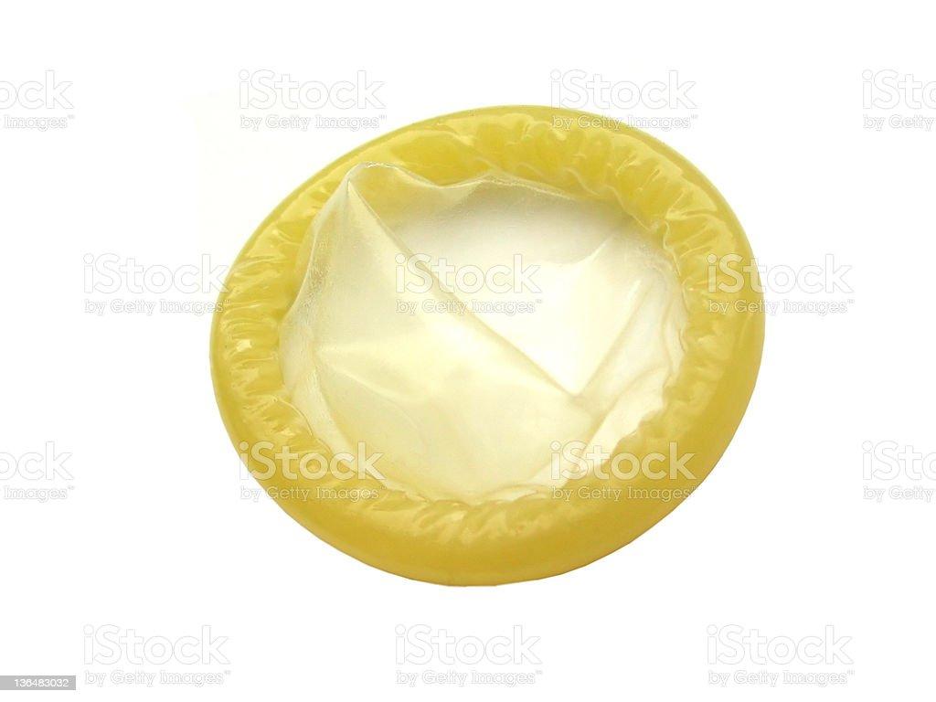 isolated condom stock photo