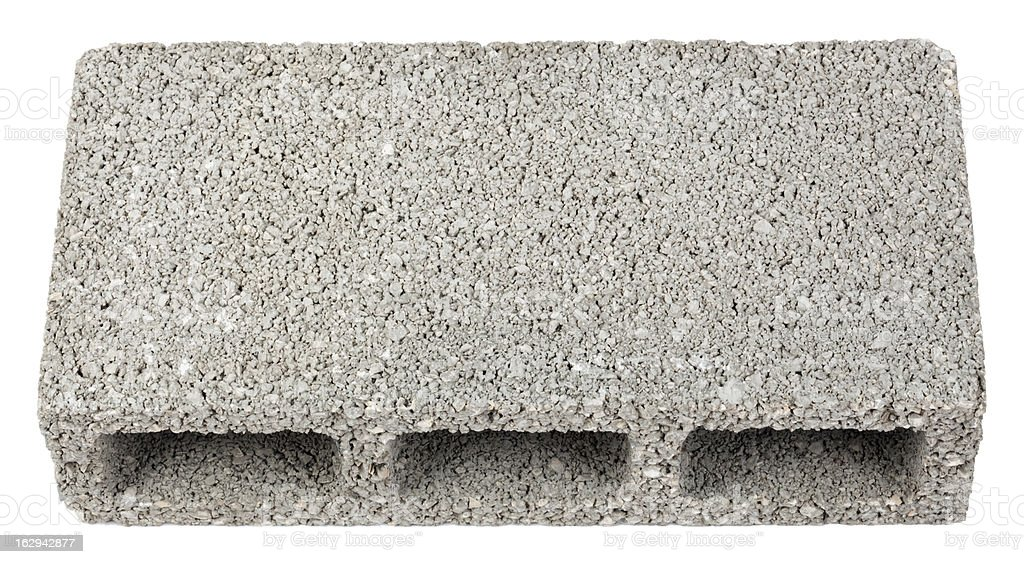 Isolated Construction Block - One High Angle stock photo