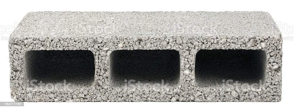 Isolated Construction Block - One royalty-free stock photo