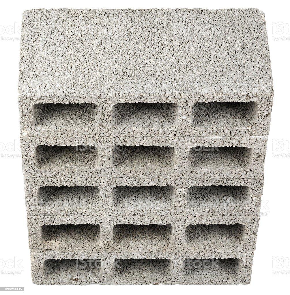 Isolated Construction Blocks - Five High Angle stock photo