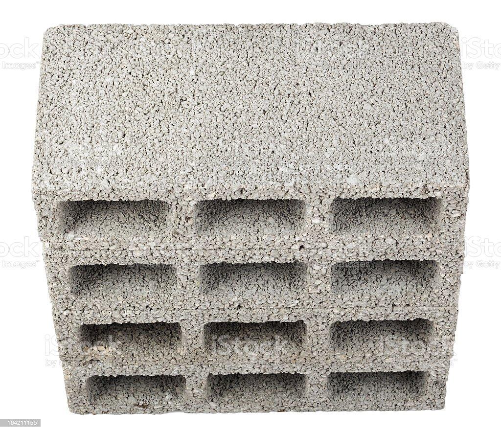 Isolated Construction Blocks - Four High Angle stock photo