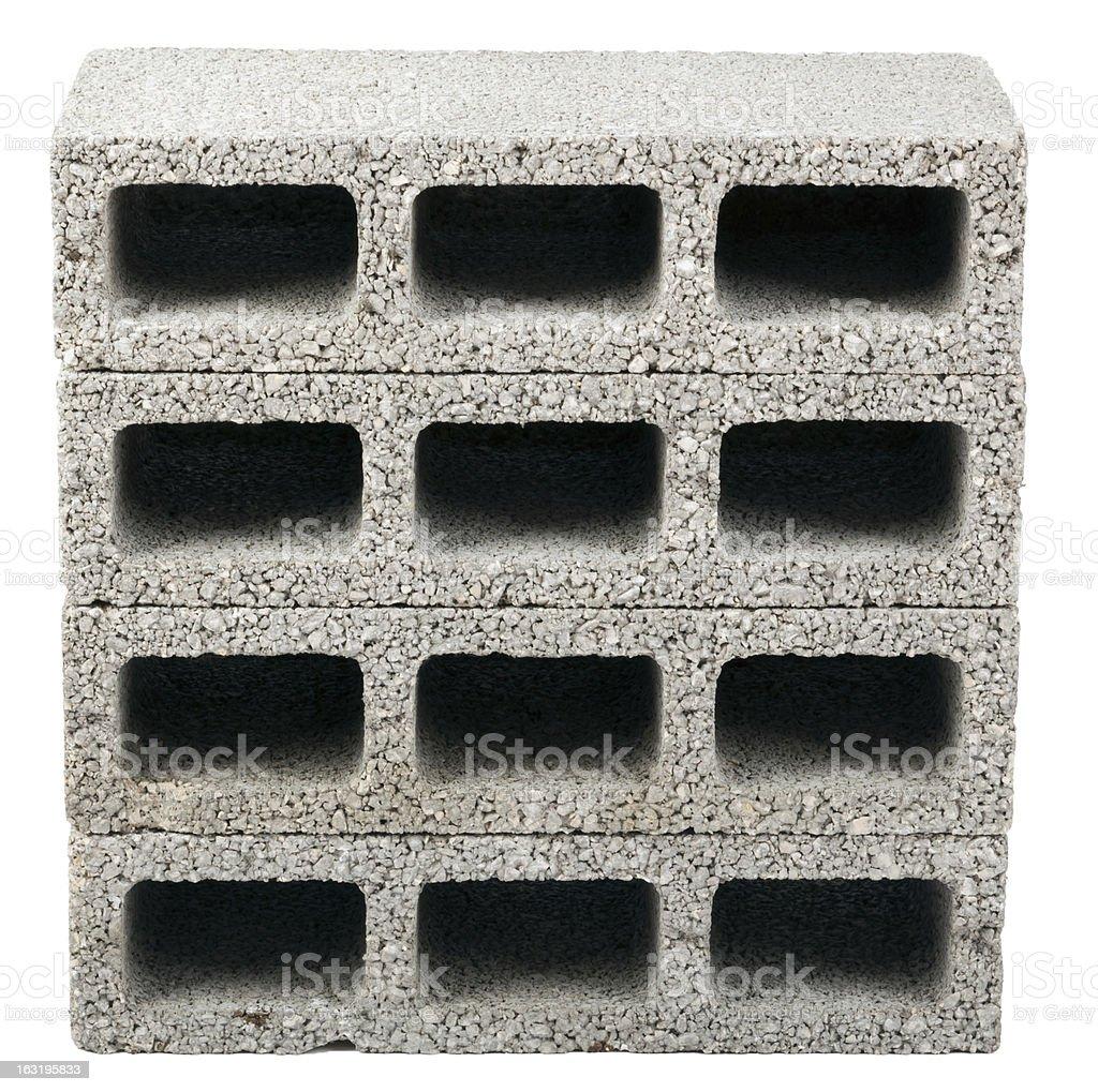 Isolated Construction Blocks - Four stock photo