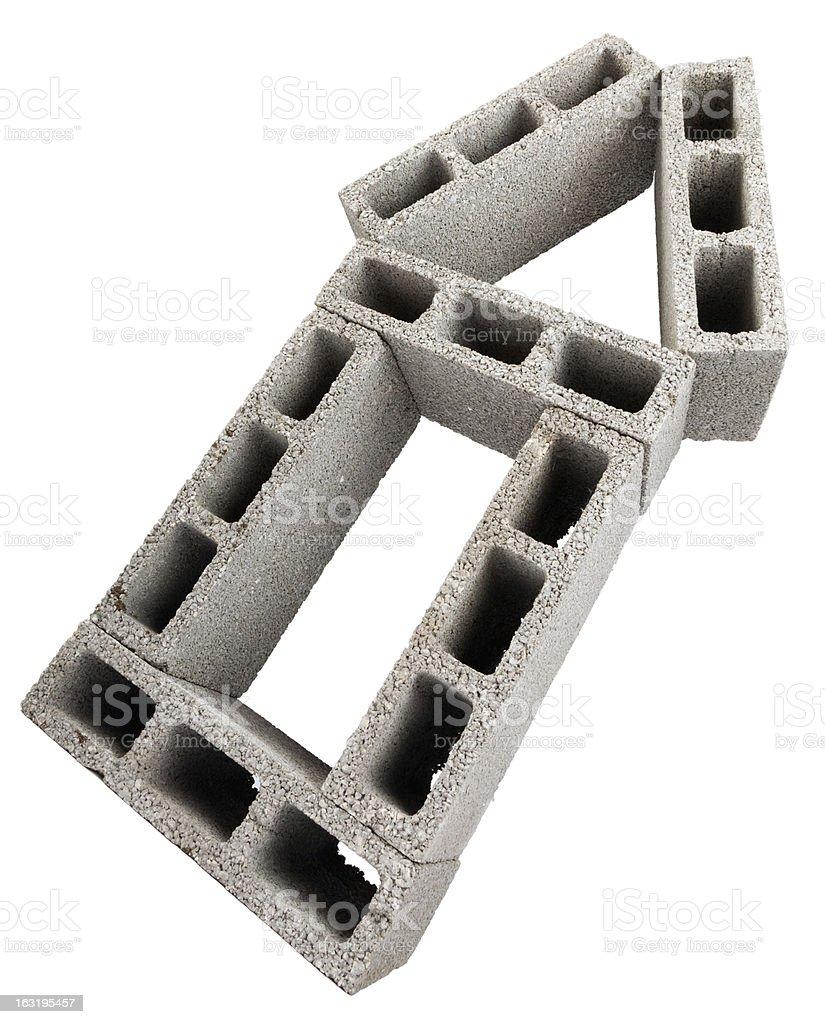 Isolated Construction Blocks - Home stock photo