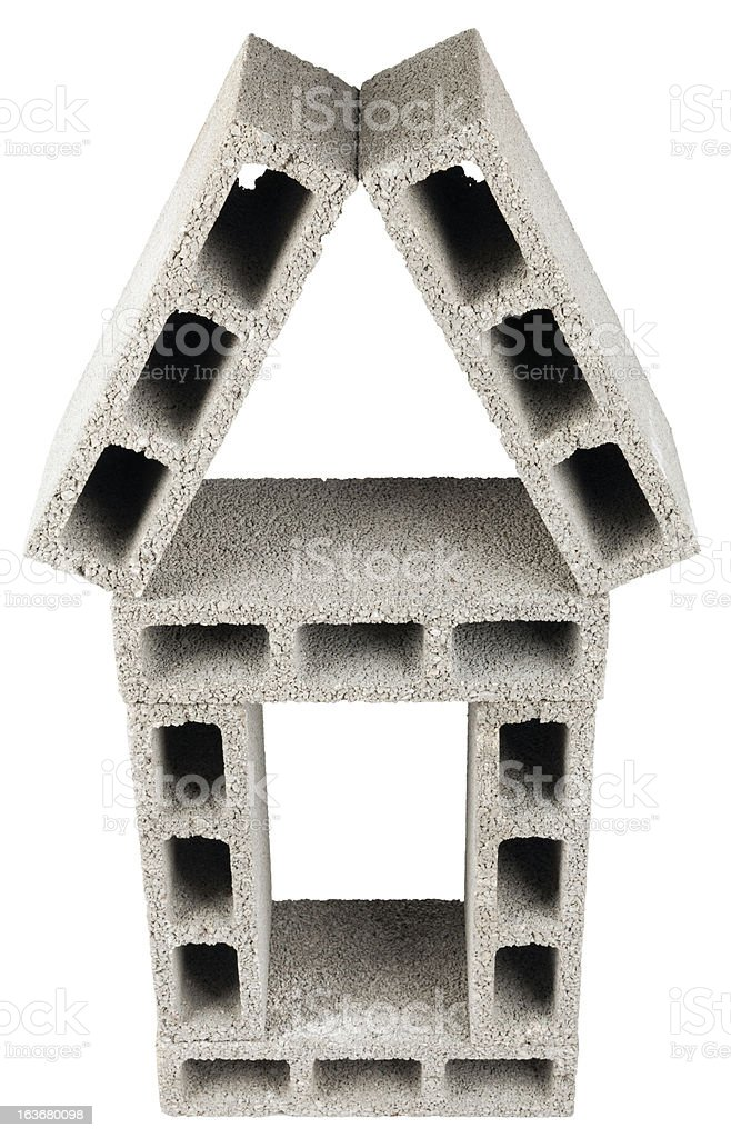 Isolated Construction Blocks - Home royalty-free stock photo