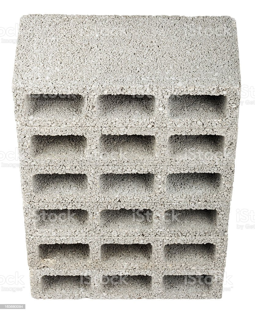 Isolated Construction Blocks - Six High Angle stock photo