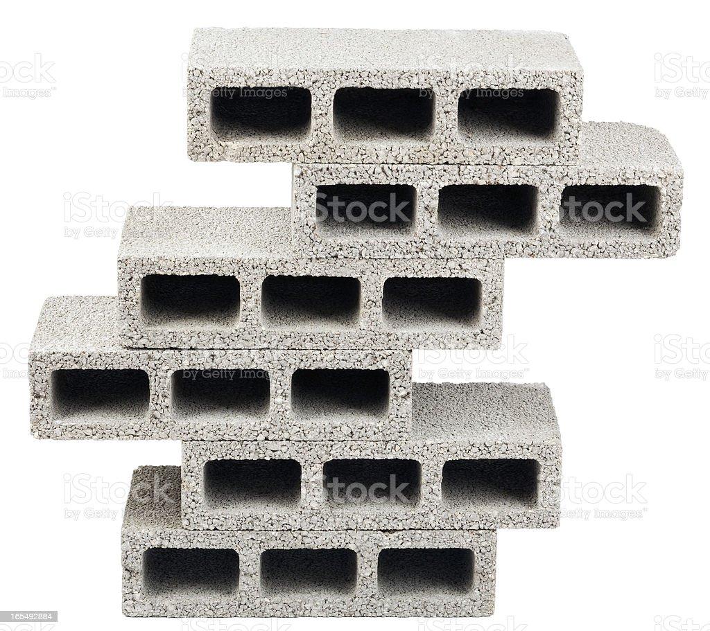 Isolated Construction Blocks - Six stock photo