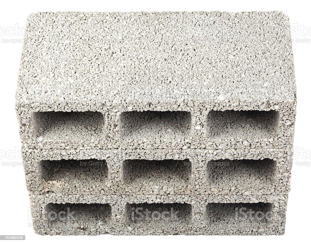 Isolated Construction Blocks - Three High Angle stock photo