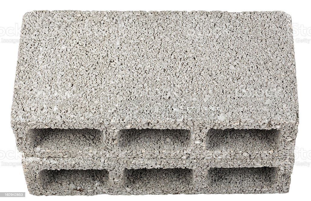 Isolated Construction Blocks - Two High Angle stock photo