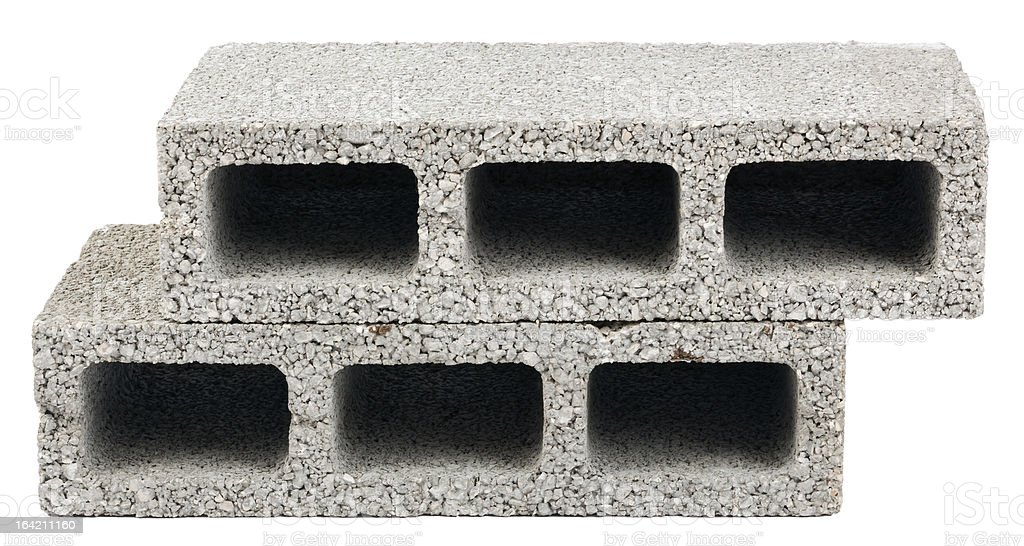 Isolated Construction Blocks - Two royalty-free stock photo