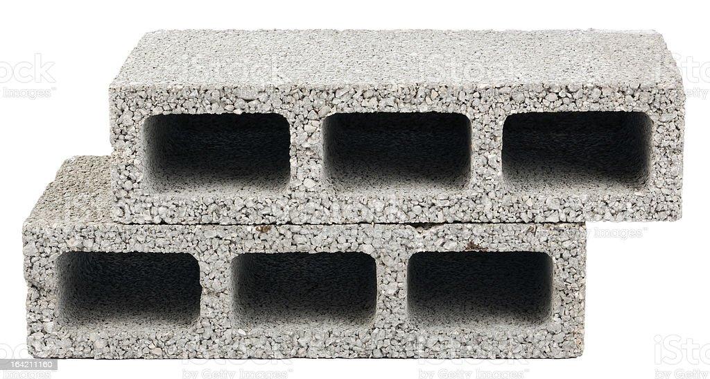 Isolated Construction Blocks - Two stock photo