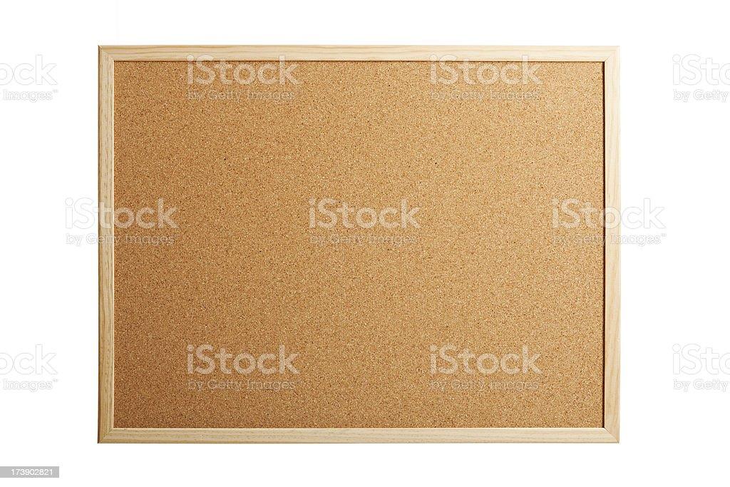 Isolated cork board royalty-free stock photo