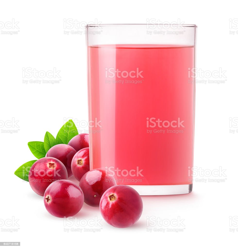 Isolated cranberry drink stock photo